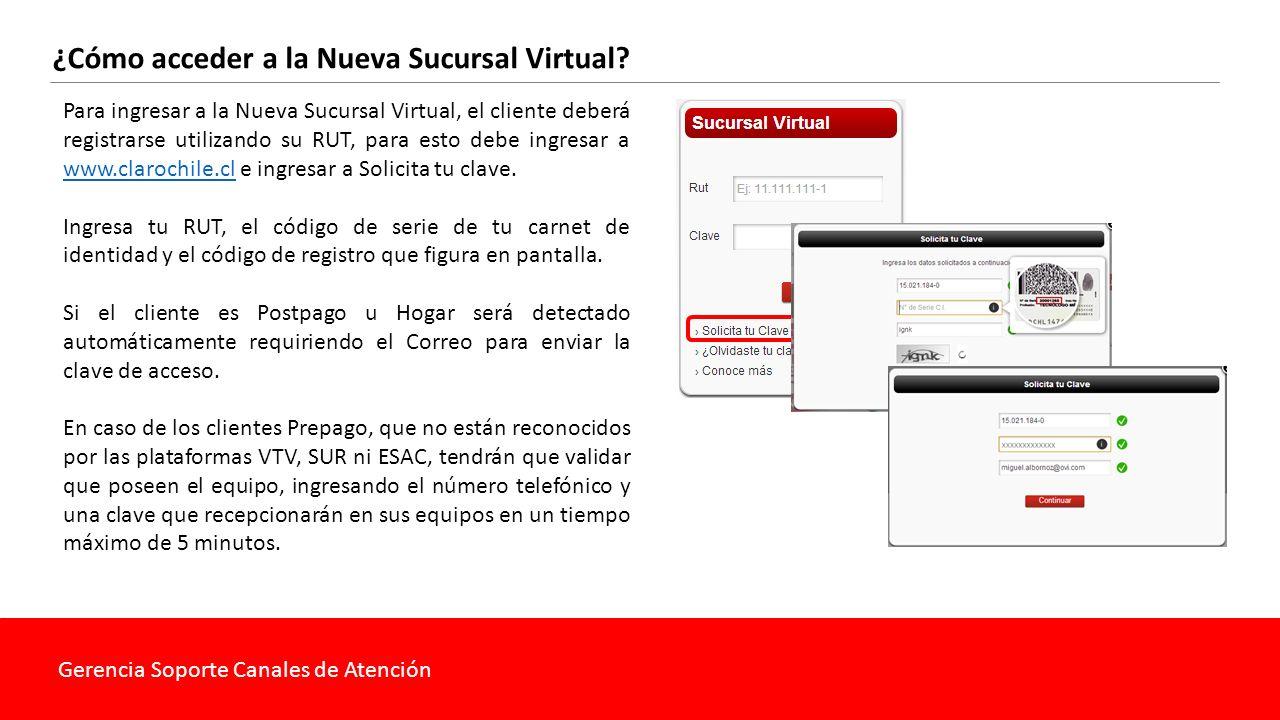 Gerencia Soporte Canales de Atención ¿Cómo acceder a la Nueva Sucursal Virtual.