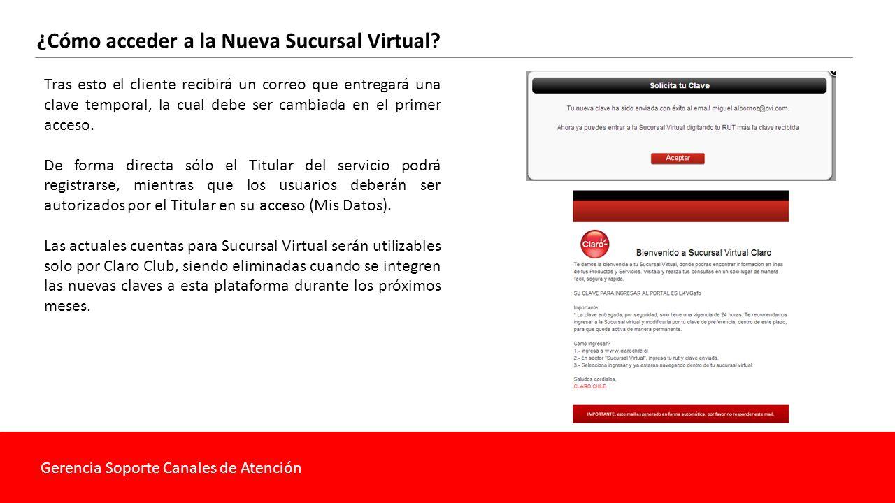 Gerencia Soporte Canales de Atención ¿Cuáles son las funcionalidades de la Nueva Sucursal Virtual.