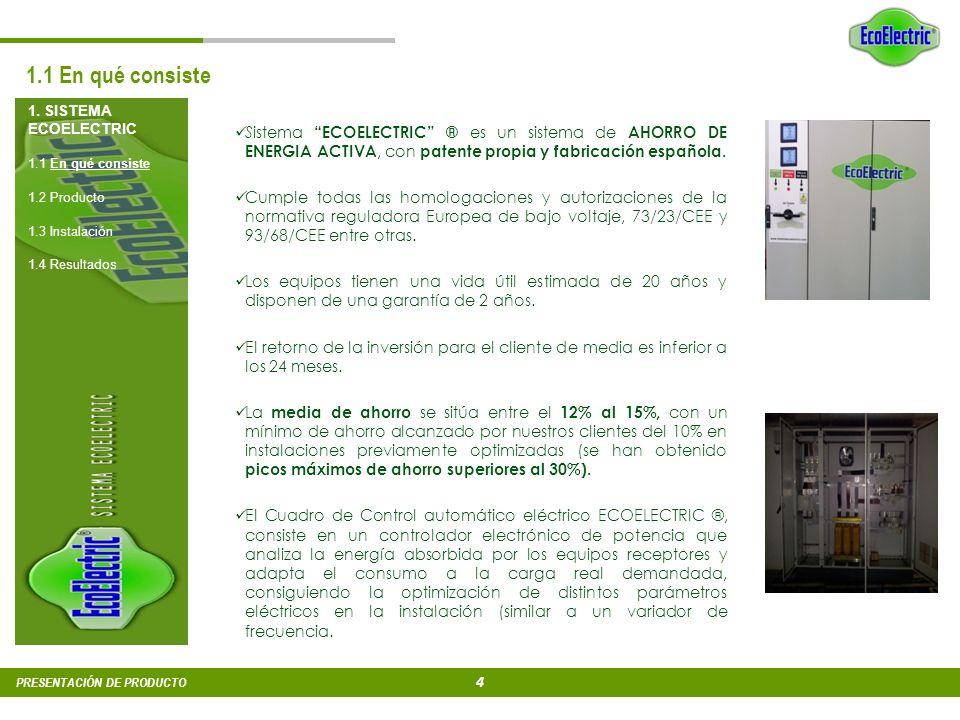 3 PRESENTACIÓN DE PRODUCTO 1.- SISTEMA ECOELECTRIC