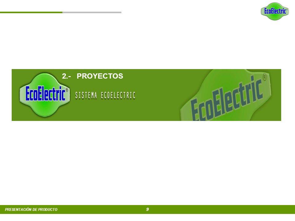 8 PRESENTACIÓN DE PRODUCTO 1. SISTEMA ECOELECTRIC 1.1 En qué consiste 1.2 Producto 1.3 Instalación 1.4 Resultados 1.4 Resultados del Sistema Ecoelectr