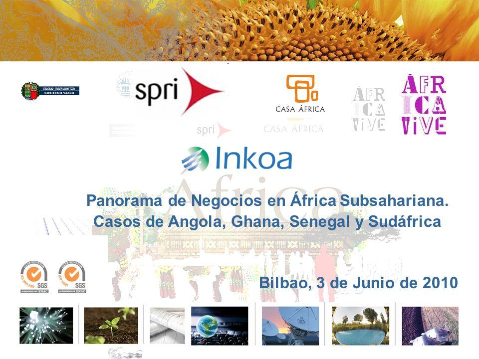 Panorama de Negocios en África Subsahariana. Casos de Angola, Ghana, Senegal y Sudáfrica Bilbao, 3 de Junio de 2010