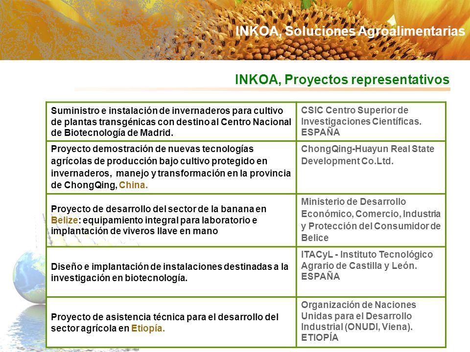 INKOA, Proyectos representativos Suministro e instalación de invernaderos para cultivo de plantas transgénicas con destino al Centro Nacional de Biote