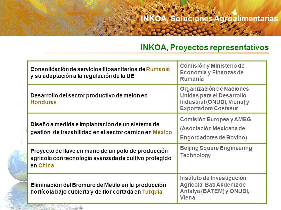 INKOA, Proyectos representativos Consolidación de servicios fitosanitarios de Rumanía y su adaptación a la regulación de la UE Comisión y Ministerio d