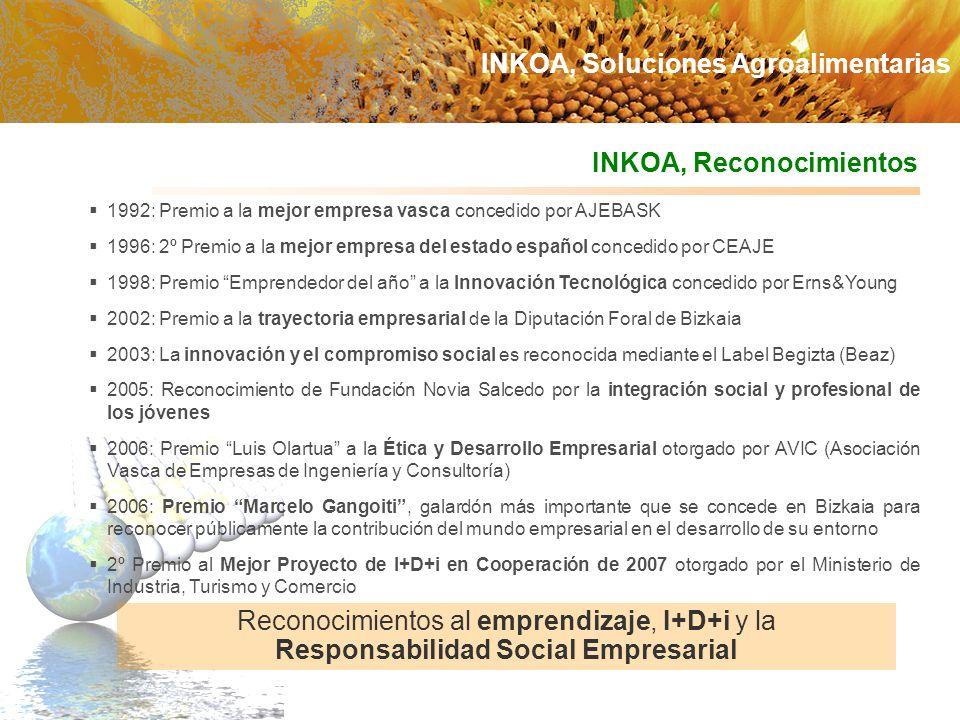 1992: Premio a la mejor empresa vasca concedido por AJEBASK 1996: 2º Premio a la mejor empresa del estado español concedido por CEAJE 1998: Premio Emp