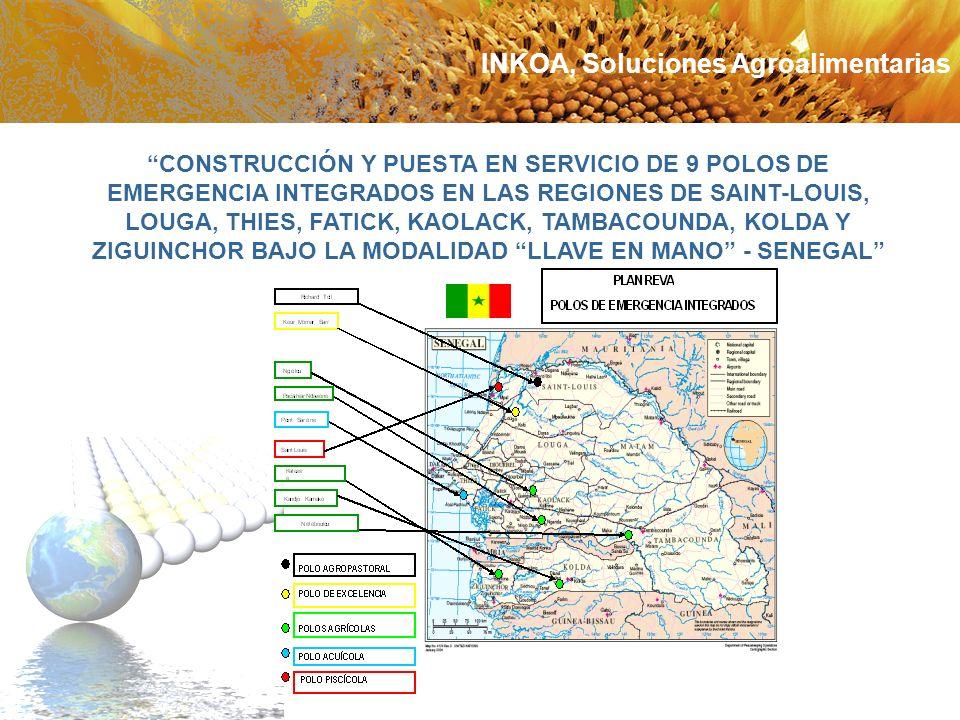 CONSTRUCCIÓN Y PUESTA EN SERVICIO DE 9 POLOS DE EMERGENCIA INTEGRADOS EN LAS REGIONES DE SAINT-LOUIS, LOUGA, THIES, FATICK, KAOLACK, TAMBACOUNDA, KOLD