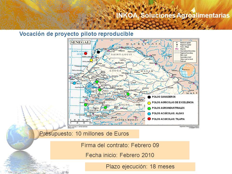 Vocación de proyecto piloto reproducible Plazo ejecución: 18 meses Presupuesto: 10 millones de Euros Firma del contrato: Febrero 09 Fecha inicio: Febr