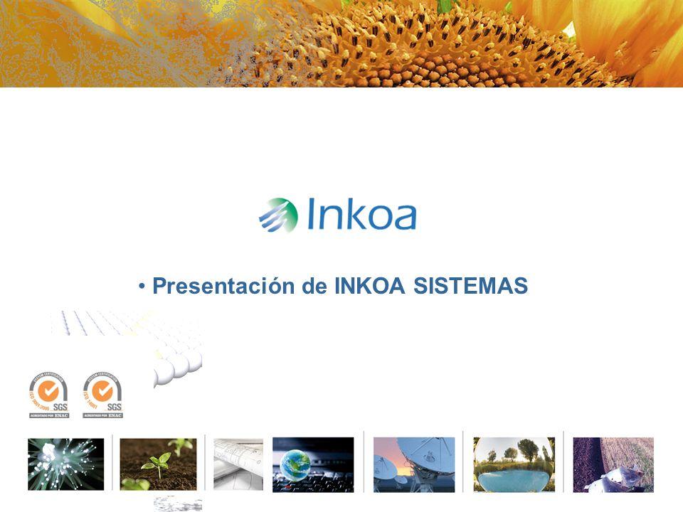 INKOA, Soluciones Agroalimentarias Misión: INKOA es una empresa de Ingeniería especializada en aportar Soluciones Integrales de tecnología avanzada dirigidas al Sector Agroalimentario a nivel internacional Diseño Ingeniería Implantación Proyectos Integrales Visión : Que INKOA sea reconocida por nuestros grupos de interés como una empresa innovadora, de alta tecnología y modelo de desarrollo sostenible en los mercados donde actuamos Diseño Ingeniería Básica y de detalle Dirección y Ejecución Puesta en Servicio Servicio de Asistencia