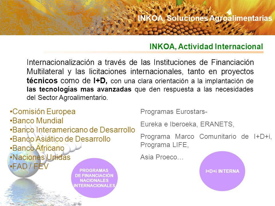 Internacionalización a través de las Instituciones de Financiación Multilateral y las licitaciones internacionales, tanto en proyectos técnicos como d