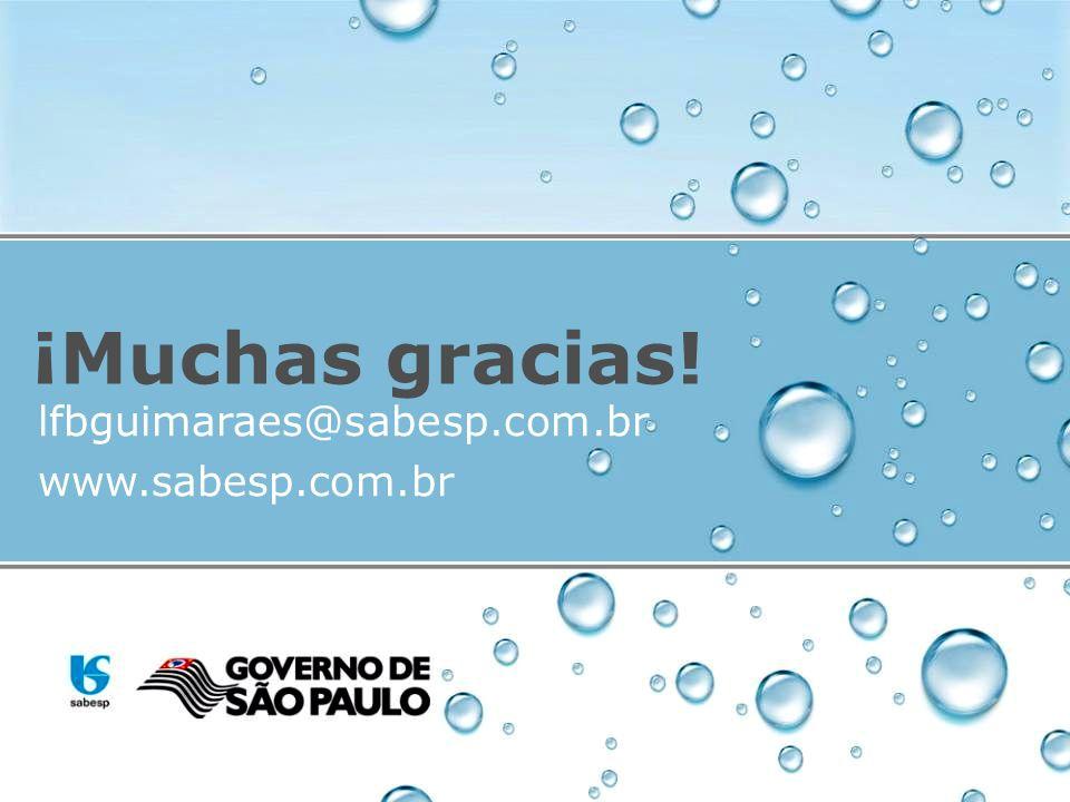 ¡Muchas gracias! lfbguimaraes@sabesp.com.br www.sabesp.com.br