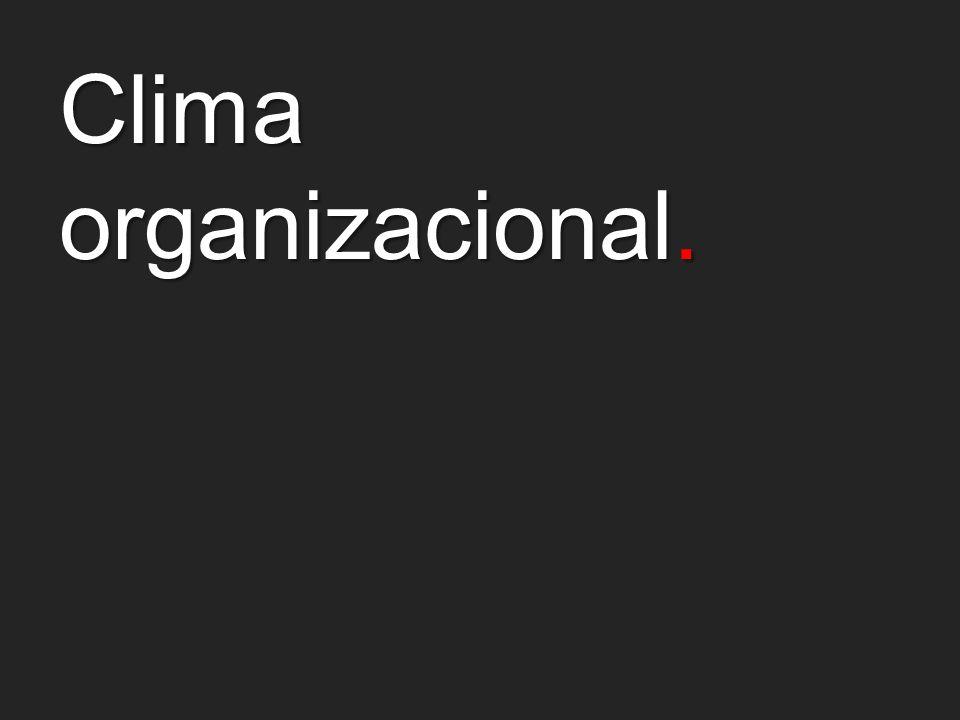 Clima organizacional.