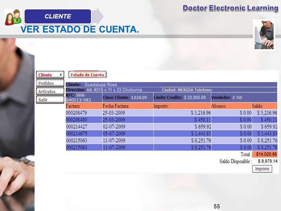 55 VER ESTADO DE CUENTA. CLIENTE