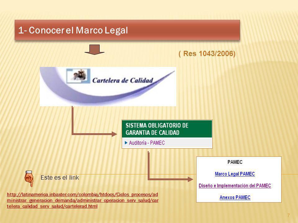 1- Conocer el Marco Legal http://latinamerica.inbaxter.com/colombia/htdocs/Ciclos_procesos/ad ministrar_generacion_demanda/administrar_operacion_serv_
