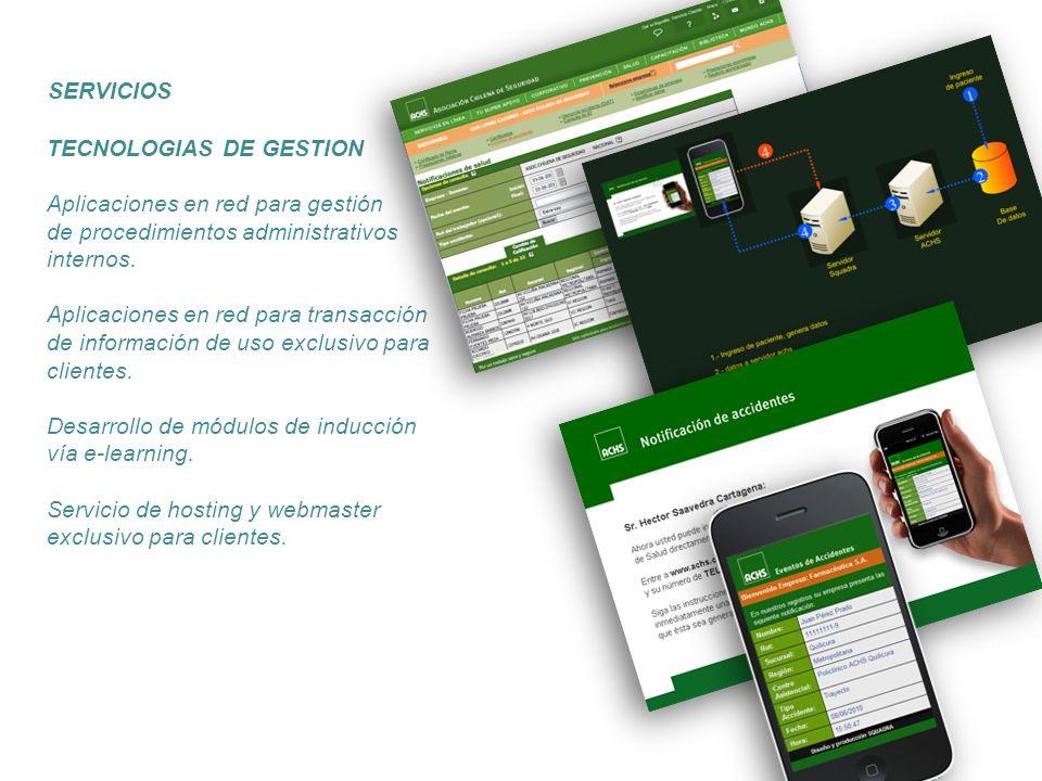 TECNOLOGIAS DE GESTION Aplicaciones en red para gestión de procedimientos administrativos internos. Aplicaciones en red para transacción de informació
