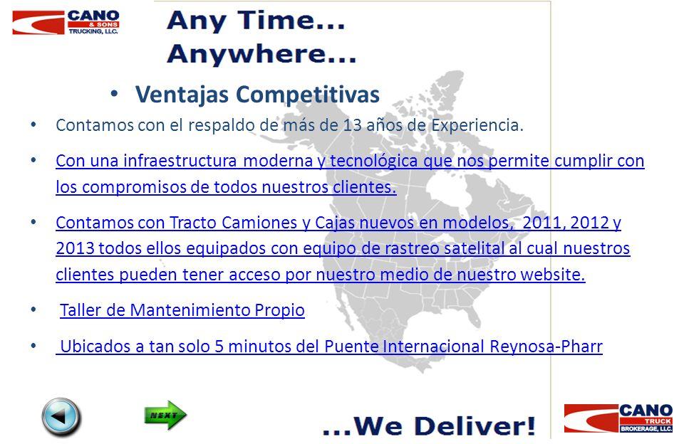Grupo de Operaciones Operations Manager Felipe Muniz Email : felipe@canoandsonstrucking.comfelipe@canoandsonstrucking.com Office 956-702-8000 Cell Phone 956-239-3389 Nextel ID 72*14*48929 Owner Juan Cano Email : juan@canoandsonstrucking.comjuan@canoandsonstrucking.com Office 956-702-8000 Operations Director Eduardo Castro Email: ecastro@canoandsonstrucking.comecastro@canoandsonstrucking.com Office 956-702-8000 Cell Phone 956-534-1678 Operations VP at Cano Truck Brokerage Jim Aleman Email : jim@canoandsonstrucking.comjim@canoandsonstrucking.com Office 956-702-8000 dispatch@canoandsonstrucking.comsales@canoandsonstrucking.com