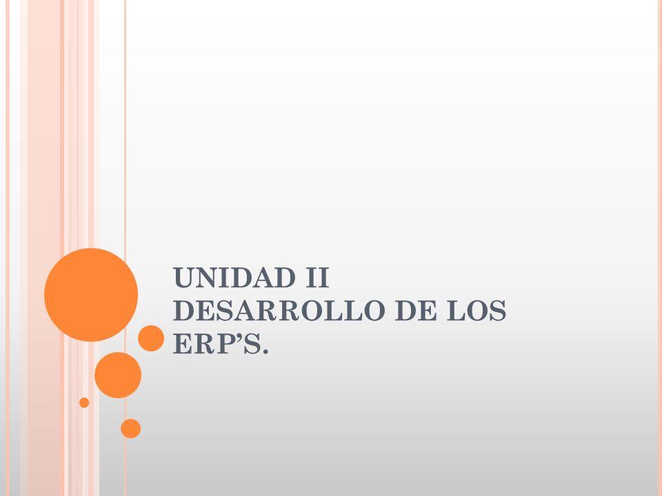 UNIDAD II DESARROLLO DE LOS ERPS.