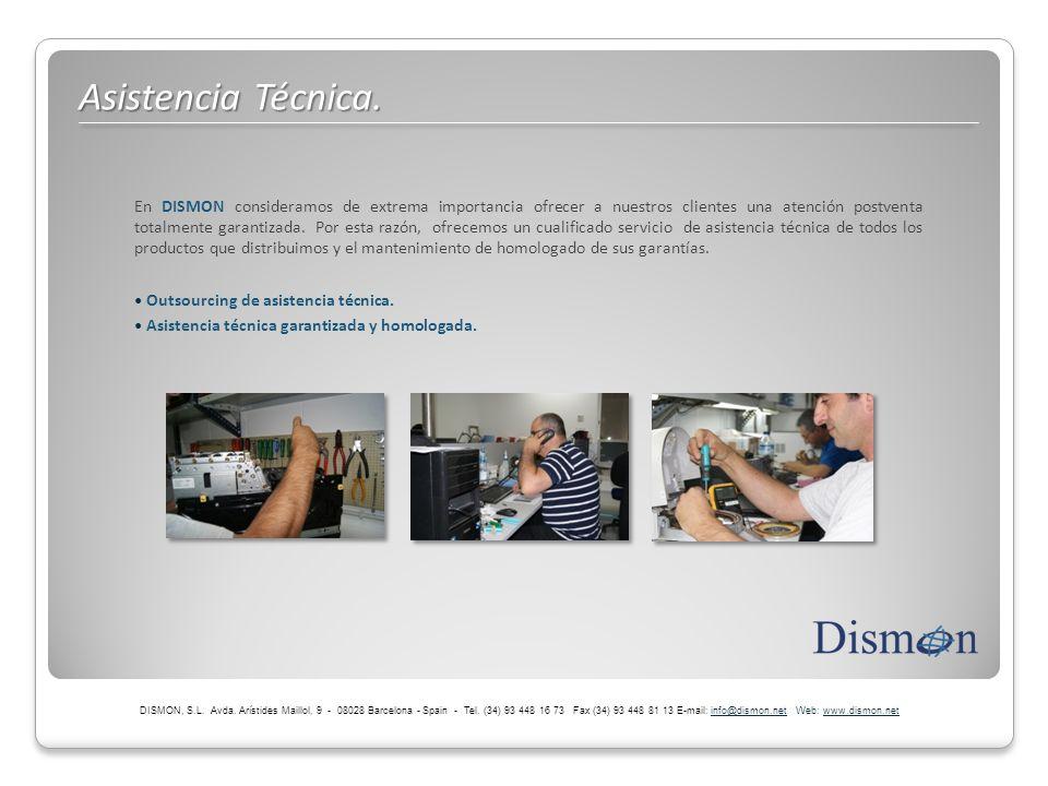 En DISMON consideramos de extrema importancia ofrecer a nuestros clientes una atención postventa totalmente garantizada. Por esta razón, ofrecemos un