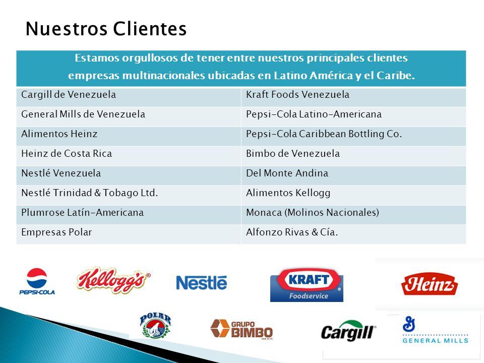Estamos orgullosos de tener entre nuestros principales clientes empresas multinacionales ubicadas en Latino América y el Caribe.