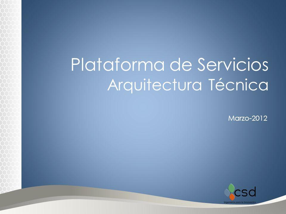 Plataforma de Servicios Arquitectura Técnica Marzo-2012