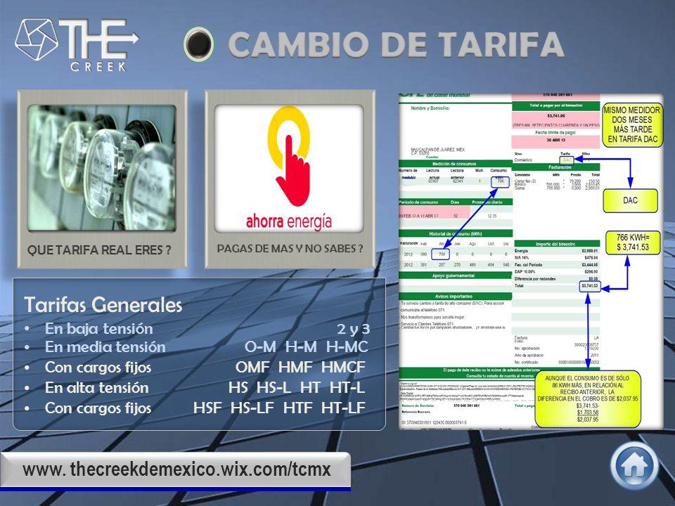 www. thecreekdemexico.wix.com/tcmx Instalaciones Eléctricas en Media y Baja Tención Instalación de plantas de emergencia y tableros de transferencia.