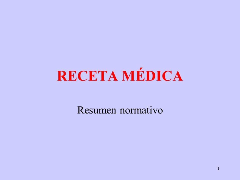 1 RECETA MÉDICA Resumen normativo