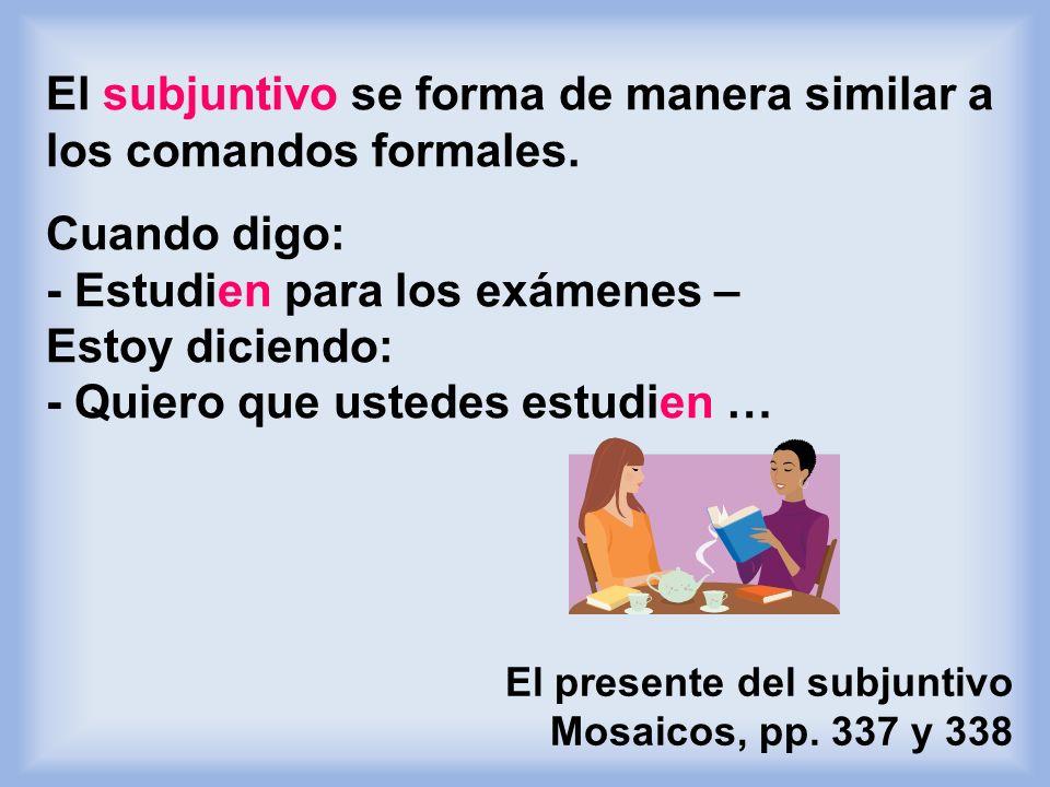 Yo quiero mejorar mi inglés. Cuando hay un sólo sujeto (persona,) usa el infinitivo. Yo quiero que mis alumnos mejoren su español. El presente del sub
