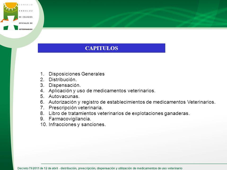 Decreto 79/2011 de 12 de abril - distribución, prescripción, dispensación y utilización de medicamentos de uso veterinario 1.Disposiciones Generales 2