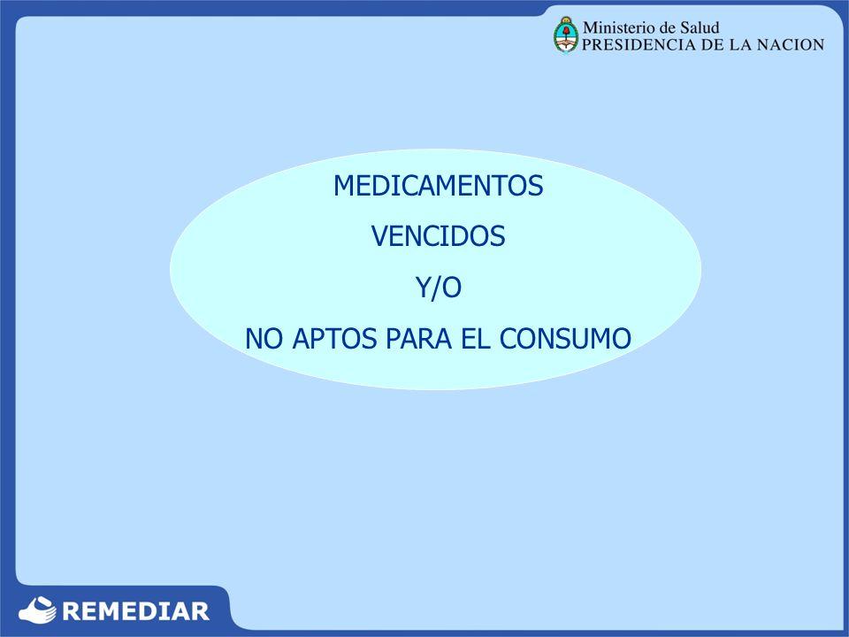 Archivar hasta la finalización del Programa MEDICAMENTOS VENCIDOS Y/O NO APTOS PARA EL CONSUMO