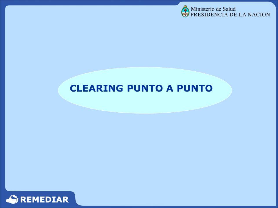 Archivar hasta la finalización del Programa CLEARING PUNTO A PUNTO