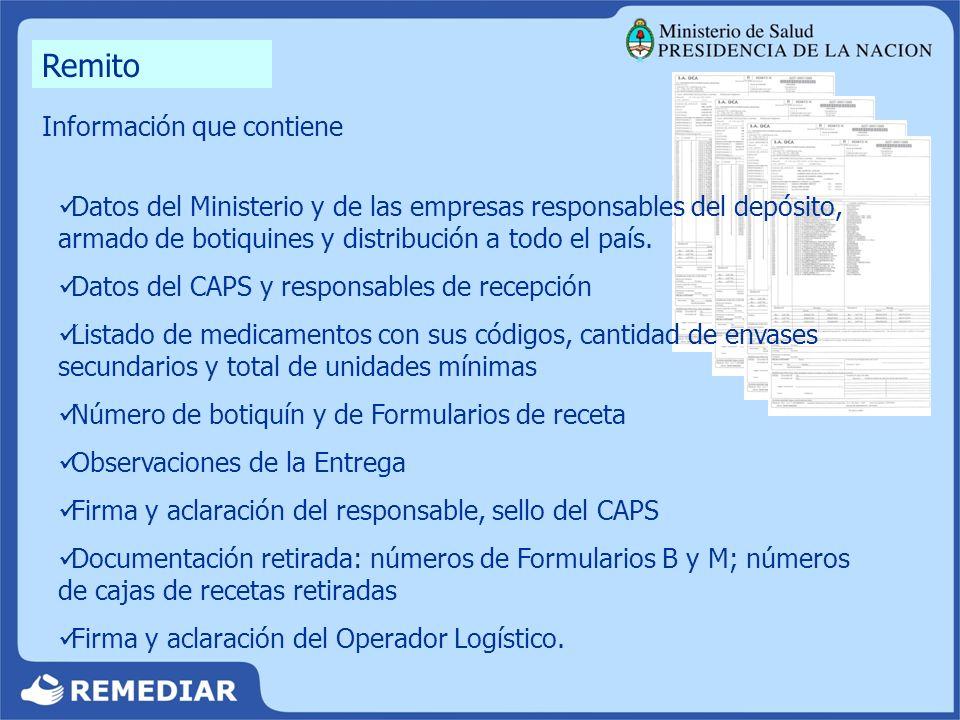 RENDICIÓN MENSUAL FORMULARIO DE CONTROL MENSUAL DE STOCK (B) FORMULARIO DE REGISTRO DE BAJA DE MEDICAMENTOS (M)