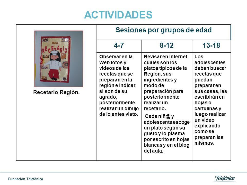 Fundación Telefónica ACTIVIDADES Recetario Región.