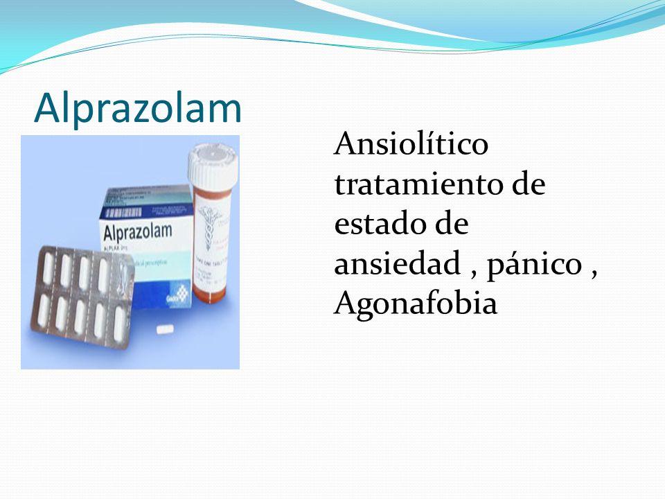Alprazolam Ansiolítico tratamiento de estado de ansiedad, pánico, Agonafobia