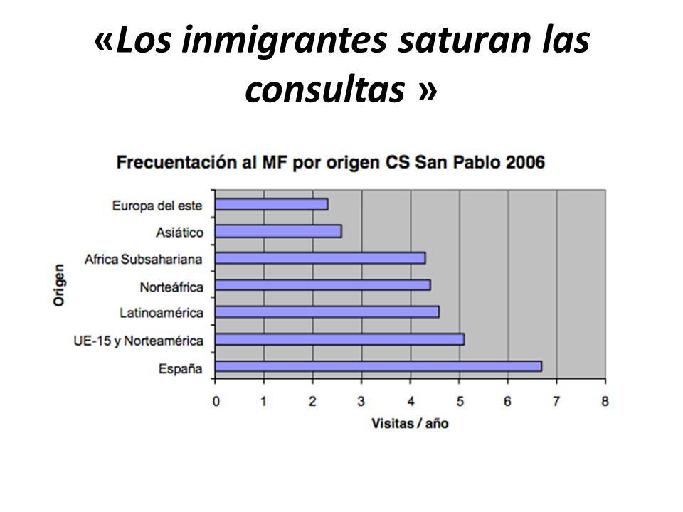 «Los inmigrantes saturan las consultas »
