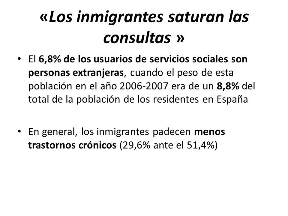 El 6,8% de los usuarios de servicios sociales son personas extranjeras, cuando el peso de esta población en el año 2006-2007 era de un 8,8% del total