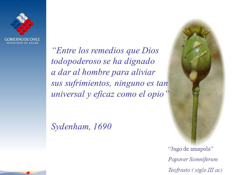 Entre los remedios que Dios todopoderoso se ha dignado a dar al hombre para aliviar sus sufrimientos, ninguno es tan universal y eficaz como el opio S