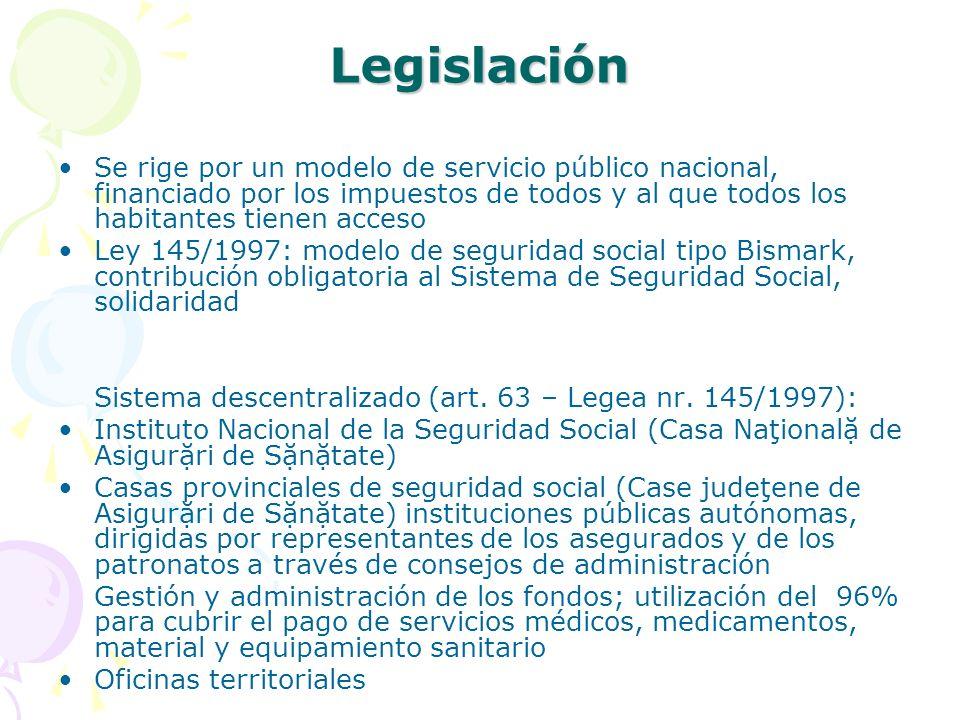 Legislación Se rige por un modelo de servicio público nacional, financiado por los impuestos de todos y al que todos los habitantes tienen acceso Ley