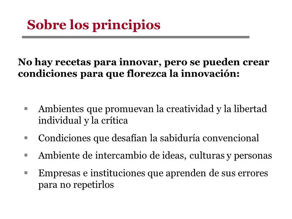 No hay recetas para innovar, pero se pueden crear condiciones para que florezca la innovación: Ambientes que promuevan la creatividad y la libertad in