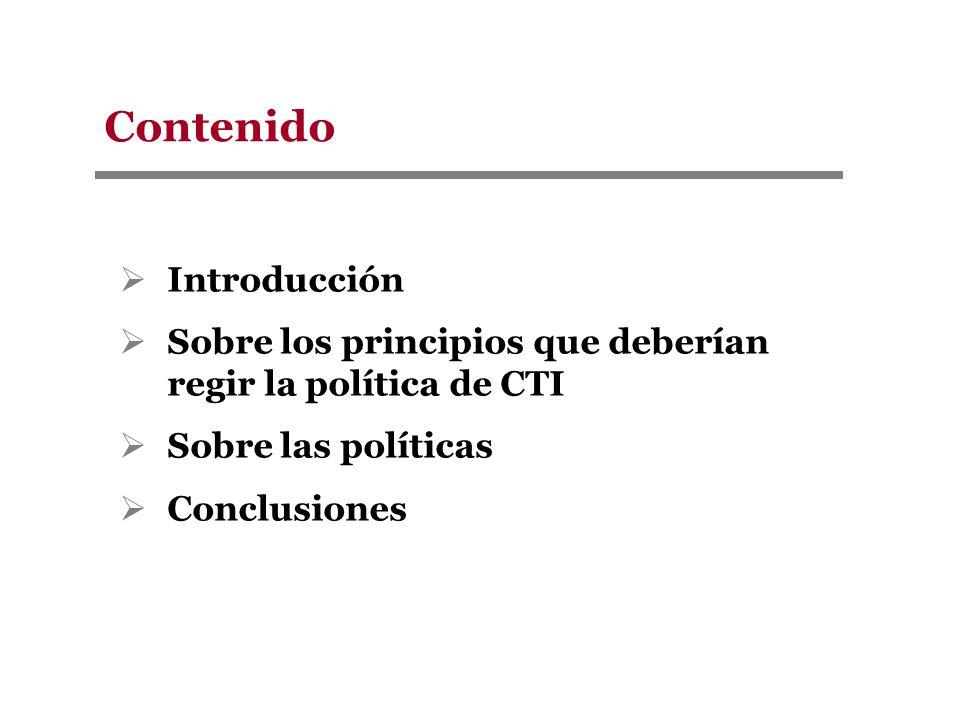 Concentración % Participación de regalías 1994-2005 El 56% de las regalías se ha concentrado en 5 Departamentos Fuente: DNP Políticas