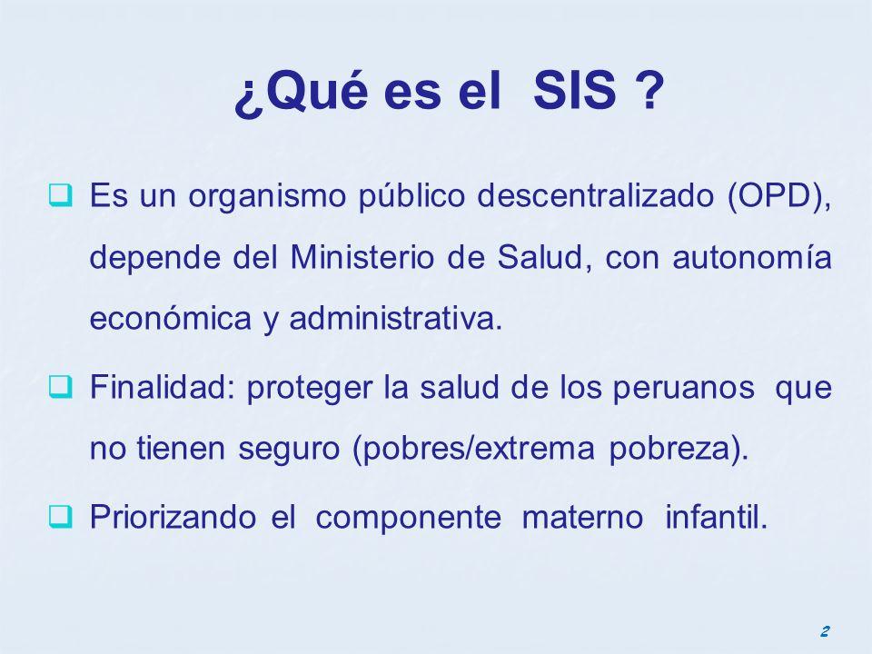 Funciones del SIS Es responsable: 1.