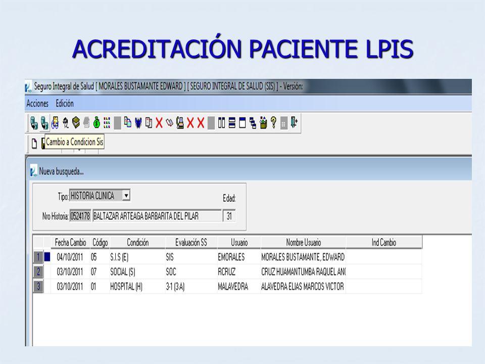 ACREDITACIÓN PACIENTE LPIS
