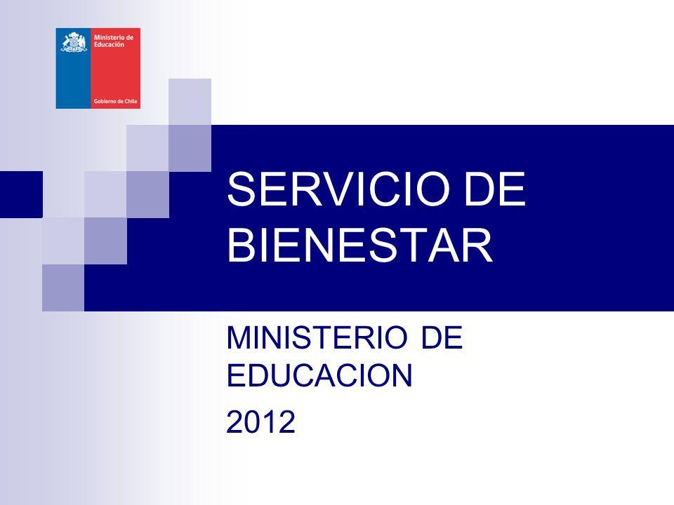 SERVICIO DE BIENESTAR MINISTERIO DE EDUCACION 2012