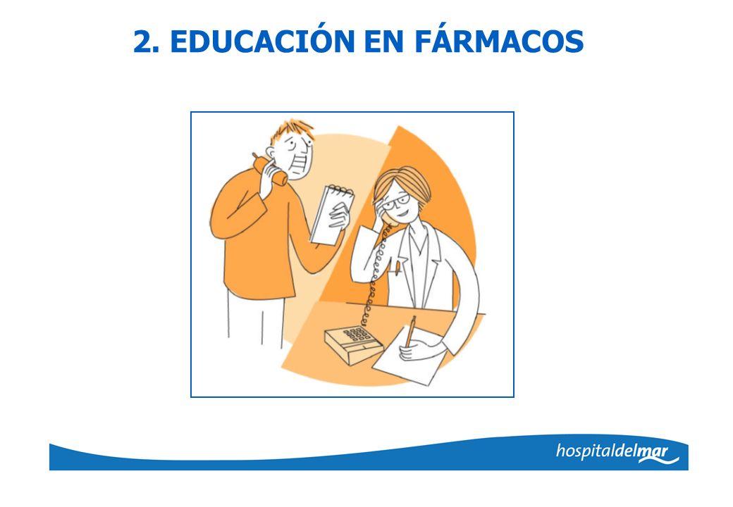 2. EDUCACIÓN EN FÁRMACOS