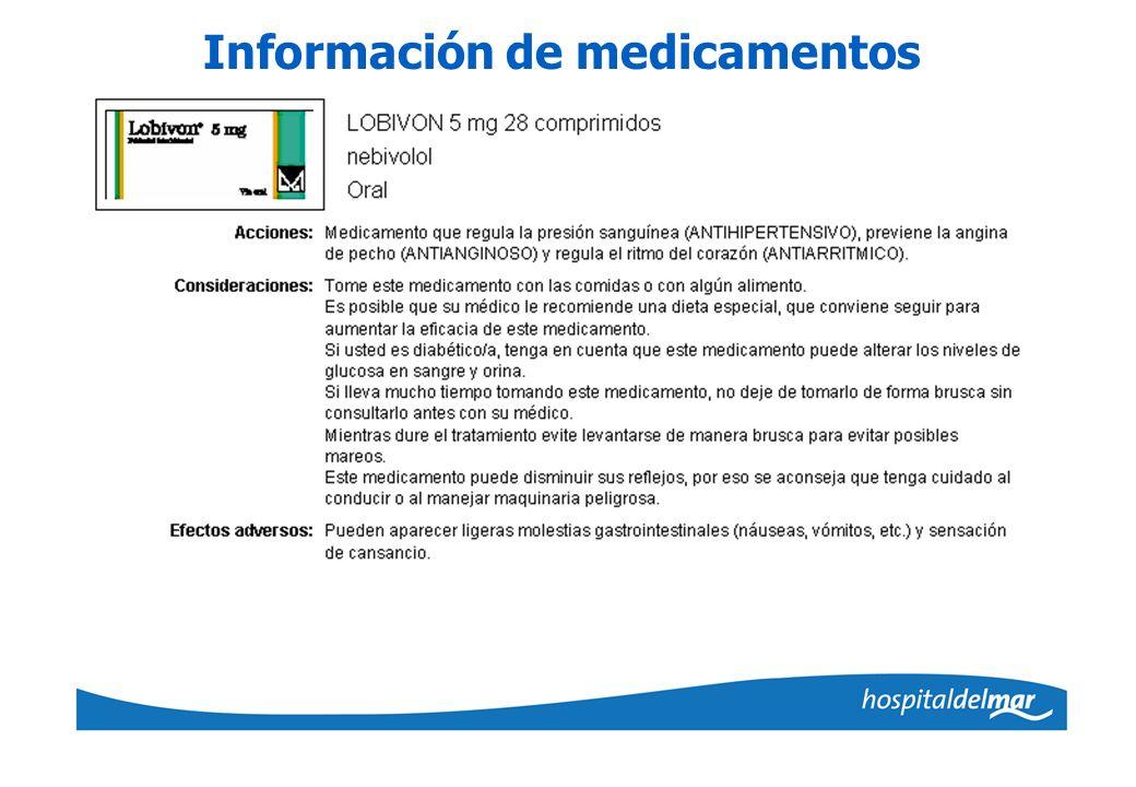 Información de medicamentos