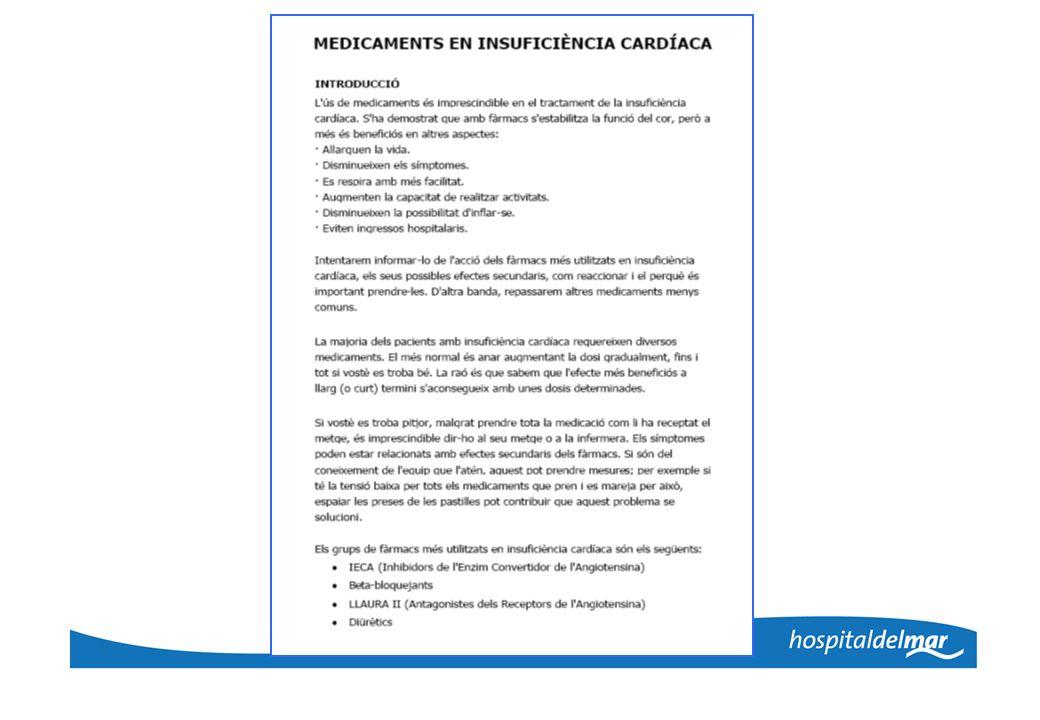 Visita de inicio - Ficha farmacoterapéutica - Cumplimentar cuestionarios - Intervención educativa - Información sobre el tratamiento farmacológico - Refuerzo de la importancia de la adherencia - Resolución de dudas o problemas farmacoterapéuticos - Entrega de INFOWIN ® modificado INTERVENCIÓN EDUCATIVA EXTRAHOSPITALARIA
