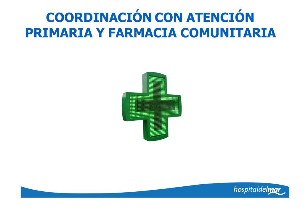 COORDINACIÓN CON ATENCIÓN PRIMARIA Y FARMACIA COMUNITARIA