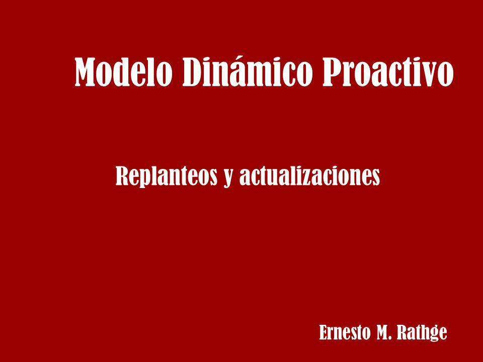 Modelo Dinámico Proactivo Replanteos y actualizaciones Ernesto M. Rathge