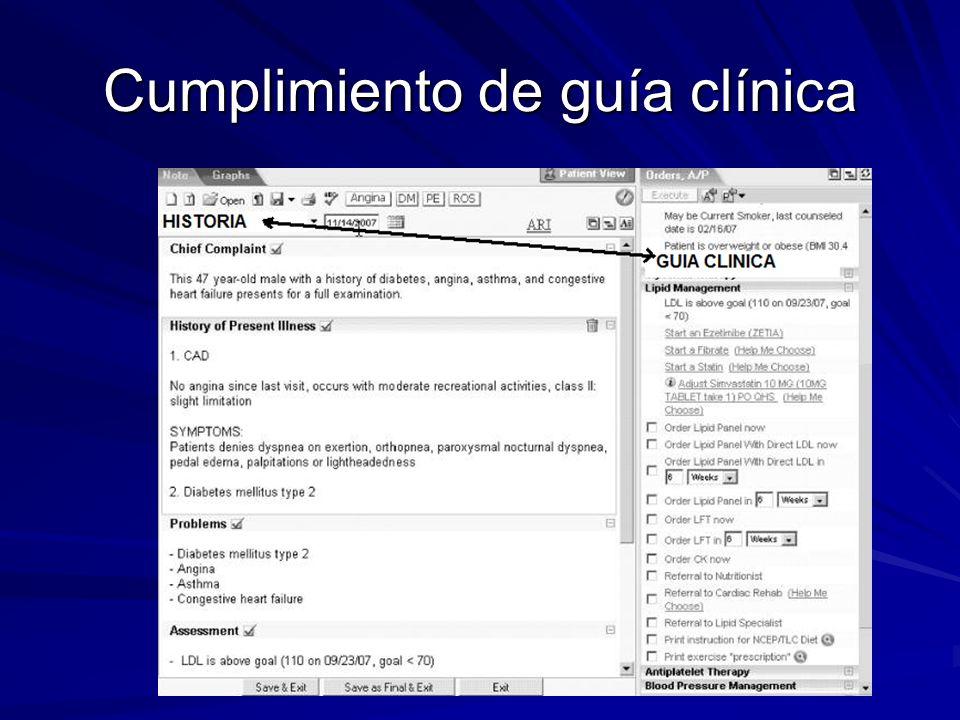 Cumplimiento de guía clínica
