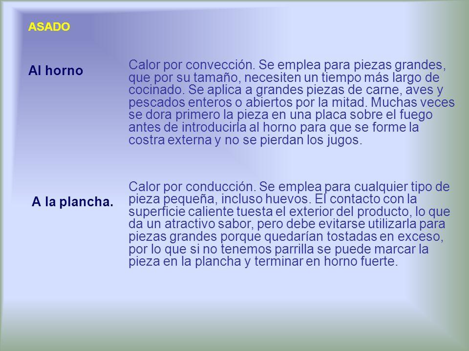 COCINA AL VACÍO Consiste en la preparación y conservación del alimento por ausencia de oxígeno.