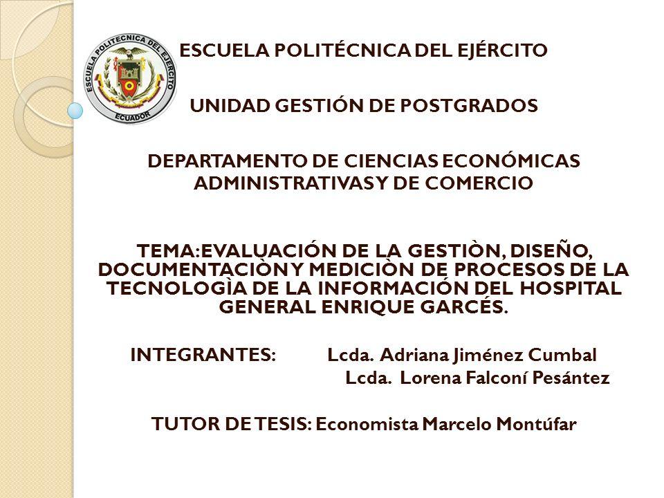 MANUAL DE PROCESOS Documento ESTANDA RIZAR ayudar a optimizar recursos físicos y humanos.