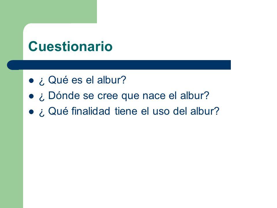 Cuestionario ¿ Qué es el albur? ¿ Dónde se cree que nace el albur? ¿ Qué finalidad tiene el uso del albur?