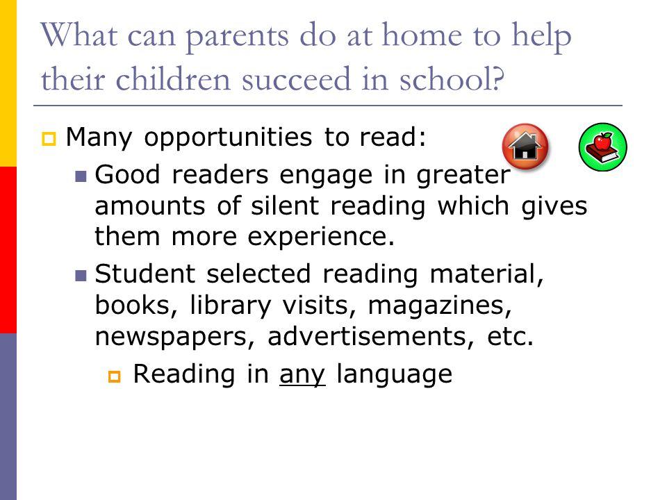¿Cómo pueden ayudar los padres a sus hijo/a tener éxito en la escuela.